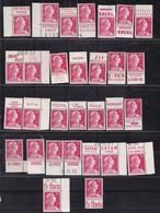 PUBLICITE: MARIANNE DE MULLER 15F ROUGE LOT DE 30 TIMBRES PUB NEUFS DONT 28** TB COTE ACCP 119E - Advertising