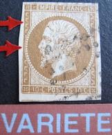 R1917/18 - NAPOLEON III N°13Ac - VARIETE ➤➤➤ Filet Ouest Incomplet - 1853-1860 Napoleon III