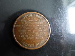 JETON  GOOD LUCK  POCKET  1908 - Professionals/Firms