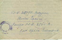 "Prigionieri Di Guerra- Prisoner Of War East Africa Command P.o.w."" Camp 356 A"" To CASTELLAZZO BORMIDA(ALESSANDRIA),1943 - 1939-45"