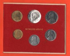 Serie 1980 Vaticano Vatikan Anno II°Giovanni Paolo II Divisionale Set - Vaticano