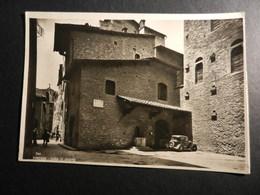 19885) FIRENZE CASA DI DANTE CON AUTO PARCHEGGIATA NELLA PIAZZETTA VIAGGIATA 1949 - Firenze