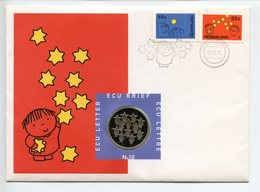 NETHERLAND COMMEMORATIVE STAMP LETTER ECU 1995 DICK BRUNA ART EURO WELKOM EUROPE UNION  (1) - Pays-Bas