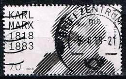 Bund 2018, Michel# 3384 O  200. Geburtstag Karl Marx - [7] Federal Republic