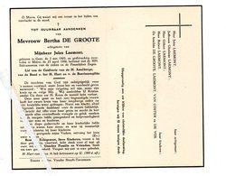 BERTHA DE GROOTE ° GENT 1903 + MATER 1956 / JULES LAEMONT - Images Religieuses