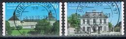 Bund 2018, Michel# 3388 - 3389 O Schloss Falkenlust/ Schloss Friedenstein Selbstklebend - BRD