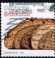 Bund 2018, Michel# 3390 O  Deutsche Brotkultur Selbstklebend Aus Markenheft 110 - [7] Federal Republic
