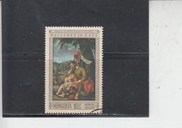 MONGOLIA  1968 - Yvert   443 - Arte - Pittura - Arte
