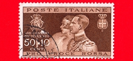 ITALIA - REGNO - Usato - 1930 - Nozze Del Principe Umberto Con Maria Jose Del Belgio - Ritratti - Croce Rossa - 50 C. + - Usati