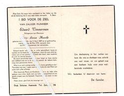 EDUARD TIMMERMAN ° ASSENEDE 1869 + 1954 / MARIA LOUISA MUSSCHE - Images Religieuses