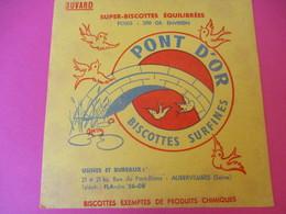 Buvard/Pont D'Or / Biscottes Surfines / AUBERVILLIERS / (SEINE)/Vers 1940-1960         BUV379 - Zwieback
