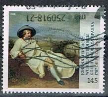 Bund 2018, Michel# 3393 O Schätze Aus Dt. Museen: Goethe In Der Campagne - [7] Federal Republic