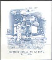 0697 Space Apollo-11 1969 Rwanda S/s MNH ** Imperf Imp 30ME - Space