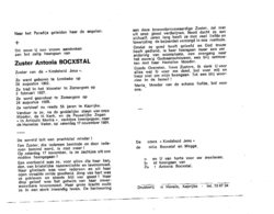 EERW.ZUSTER ANTONIA BOCXSTAL ° LEMBEKE 1902 KAPRIJKE 1984 KINDSHEID JESU - Images Religieuses