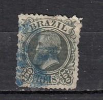 Brésil  Empereur Pedro II   YT N° 49   100r Vert Gris - Oblitérés
