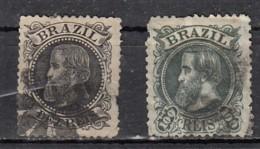 Brésil  Empereur Pedro II   YT N°51 & 54 - Oblitérés