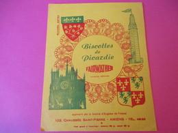 Buvard/Biscottes De PICARDIE/ Fairwather/ Chaussée Saint Pierre / AMIENS/Vers 1940-1960         BUV380 - Zwieback