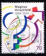 Bund 2018, Michel# 3403 O Magnus Hirschfeld - BRD