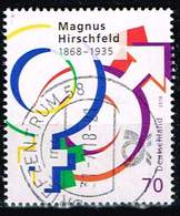 Bund 2018, Michel# 3403 O Magnus Hirschfeld - [7] Federal Republic