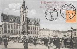St-Nicolas W NA21: Marché Du Jeudi, Hôtel De Ville 1914 - Sint-Niklaas