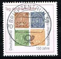 Bund 2018, Michel# 3412 O Tag Der Briefmarke : 150 Jahre Norddeutscher Postbezirk - [7] Federal Republic