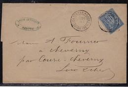 France, Loire Inférieure - Càd 18 De Chantenay/Loire De 1879 - Marcophilie (Lettres)