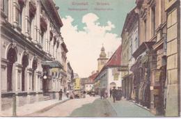 ALTE AK  BRASOV / Dt. Kronstadt / Siebenbürgen / Rumänien  - Hirschergasse - Gelaufen 1907 - Roumanie