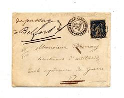 Lettre Cachet Clermont Ferrand Sur Sage + Paris + Belfort - Marcophilie (Lettres)