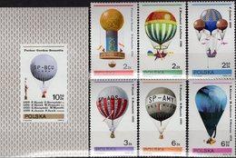 Gordon Bennett Pokal Polen 2729/4+Block 85 ** 4€ Ballonfahrt 1981 Ballon Bloque Bloc Ss Mail Sheet Bf Poland/Polska - Unused Stamps