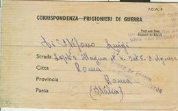 "PRIGIONIIERI DI GUERRA- ITALIAN PRISONERS OF WAR CAMP ""UNION OF SOUTH AFRICA"" 1943,per ROMA - CENSURA - 1939-45"