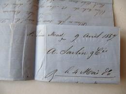 LETTRE  MARQUE POSTALE   SAINT PIERRE MARTINIQUE  / BORDEAUX    1857 - 1801-1848: Precursors XIX