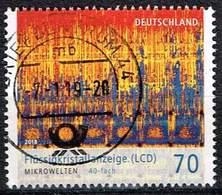 """Bund 2018, Michel# 3427 O Serie """"Mikrowelten"""": Flüssigkeitskristallanzeige - BRD"""