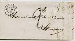 CD19 - Marque Postale - Bas Rhin - SCHIRMECK  Sans TP Cad. 16 JUIN 1849  -Taxe  Manuscrite + D  - TTB - Alsace- Lorraine - 1849-1876: Classic Period