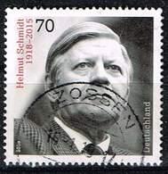 Bund 2018, Michel# 3429 O 100. Geburtstag Helmut Schmidt - BRD
