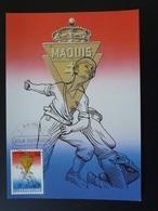 Carte Maximum Card Résistance Maquis Maquisards Luxembourg 1985 - Cartoline Maximum