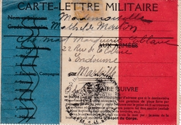 Carte Lettre Militaire - Guerre De 1914/18 - 1914-18