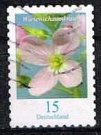 Bund 2018, Michel# 3431 O Blumen: Wiesenschaumkraut, Selbstklebend - [7] Federal Republic