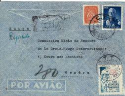 PRIGIONIERI POW CROIX ROUGE INTERNAT GENEVE SUISSE 1946 LISBOA PORTUGAL - Poste Militaire (PM)