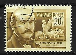 HONGRIE     -    1954  .   Y&T N° 1143 Oblitéré.   Le Gynécologue  Semmelweis Ignac - Usado