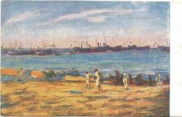 W1251 Libia - Tripoli - Lungo La Spiaggia - Giovanni Rava Dipinto Paint Peinture Illustrazione Illustration - Libia