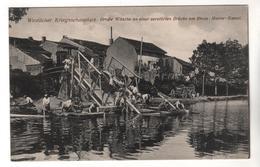 1906, Feldpost,  Zerstörte Brücke Am Rhein-Marne-Kanal - Guerre 1914-18
