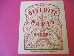 Buvard/La Biscotte De PARIS/NATURA/Légéreté Friabilité/Finesse Incomparable/Passage René/PARIS/Vers 1940-1960 BUV383 - Zwieback