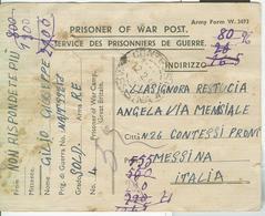 "PRIGIONIIERI DI GUERRA- ITALIAN PRISONERS OF WAR CAMP ""GREAT BRITAIN"",1946,per CONTESSE(MESSINA), - 1939-45"