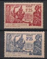 Océanie - 1939 - N°Yv. 128 à 129 - Exposition New York - Neuf Luxe ** / MNH / Postfrisch - Ozeanien (1892-1958)