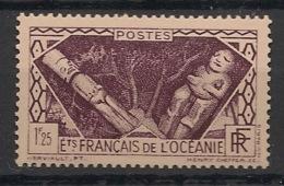 Océanie - 1939-49 - N°Yv. 108 - Divinités 1f25 Violet - Neuf GC ** / MNH / Postfrisch - Ozeanien (1892-1958)