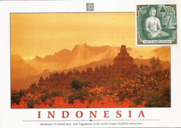 Temple De Borobudur. Indonésie. Carte-Maximum France - Buddhism