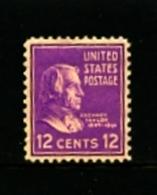 UNITED STATES/USA - 1938  12c   Z. TAYLOR  MINT NH - Stati Uniti