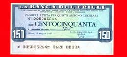 MINIASSEGNI - La BANCA DEL FRIULI - Nuovo - FdS - [10] Assegni E Miniassegni