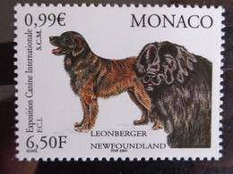 MONACO 2001 Y&T N° 2296 ** - EXPO. CANINE INTERNATIONALE, LEONBERG ET TERRE NEUVE - Neufs