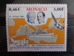 MONACO 2001 Y&T N° 2318 ** - 36e COMMISSION INTERN. POUR L'EXPLORATION SCIENTIFIQUE DE LA MEDITERRANEE - Neufs